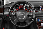 Steering wheel view of a 2010 Audi A8 4 Door Sedan 4WD