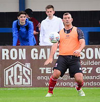 Lincoln City's Matt Rhead during the pre-match warm-up<br /> <br /> Photographer Chris Vaughan/CameraSport<br /> <br /> Football Pre-Season Friendly (Community Festival of Lincolnshire) - Gainsborough Trinity v Lincoln City - Saturday 6th July 2019 - The Martin & Co Arena - Gainsborough<br /> <br /> World Copyright © 2018 CameraSport. All rights reserved. 43 Linden Ave. Countesthorpe. Leicester. England. LE8 5PG - Tel: +44 (0) 116 277 4147 - admin@camerasport.com - www.camerasport.com