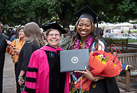 Families, friends, faculty, staff and distinguished guests celebrate the class of 2019 during Occidental College's 137th Commencement ceremony on Sunday, May 19, 2019 in the Remsen Bird Hillside Theater.<br /> (Photo by Marc Campos, Occidental College Photographer)