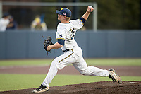 Michigan Wolverines pitcher Mac Lozer (29) delivers a pitch to the plate against the Central Michigan Chippewas on May 9, 2017 at Ray Fisher Stadium in Ann Arbor, Michigan. Michigan defeated Central Michigan 4-2. (Andrew Woolley/Four Seam Images)