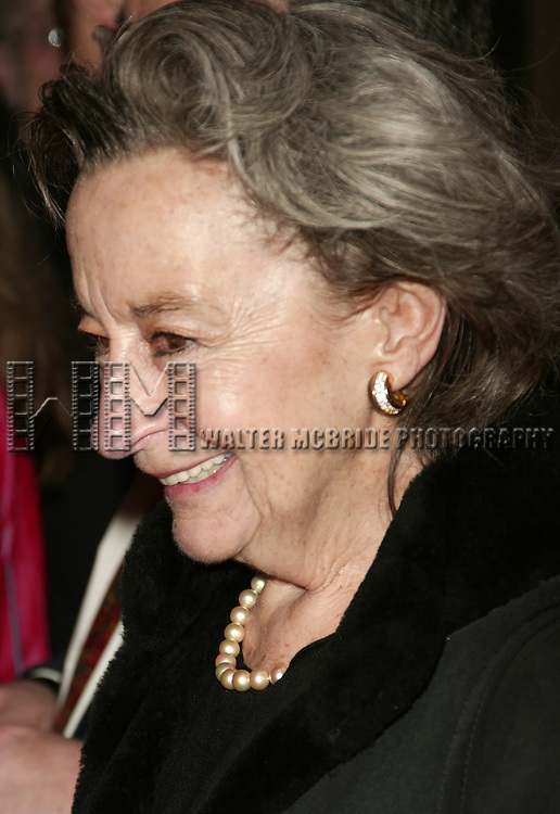 Zoe Caldwell attending the Opening Night of the Broadway Musical Landmark, SWEENEY TODD at the Eugene O'Neill Theatre in New York City.<br />November 3, 2005
