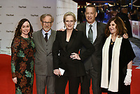 Kristie Macosko Krieger, Steven Spielberg, Meryl Streep, Tom Hanks, Amy Pascal<br /> &quot;The Post&quot; European film premiere at the Odeon cinema, Leicester Square, London, England on January 10th, 2017<br /> CAP/PL<br /> &copy;Phil Loftus/Capital Pictures