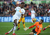 4th November 2017, Liberty Stadium, Swansea, Wales; EPL Premier League football, Swansea City versus Brighton and Hove Albion; Tammy Abraham of Swansea City comes close in the 2nd half but gets stopped by Matthew Ryan of Brighton