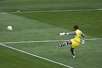 LA Sol's goalkeeper Karina LeBlanc. The LA Sol defeated the Washington Freedom 2-0 in the opening game of Womens Professional Soccer at Home Depot Center stadium on Sunday March 29, 2009.  .Photo by Michael Janosz