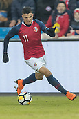 23rd March 2018, Ullevaal Stadion, Oslo, Norway; International Football Friendly, Norway versus Australia;  Mohamed Elyounoussi of Norway breaks forward