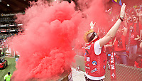Portland, OR - Saturday April 29, 2017: Thorns Supporters during a regular season National Women's Soccer League (NWSL) match between the Portland Thorns FC and the Chicago Red Stars at Providence Park.