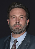 """HOLLYWOOD, CA - OCTOBER 10:  Ben Affleck at the Los Angeles world premiere of """"The Accountant"""" at TCL Chinese Theater on October 10, 2016 in Hollywood, California. Credit: mpi991/MediaPunch"""