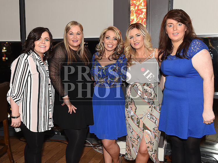 Lorraine Smith celebrating her 30th birthday in Brú with friends Doreen Collier, Celine Harrison, Claire Campbell and Lisa Black. Photo:Colin Bell/pressphotos.ie