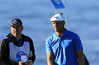 Bryson DeChambeau (USA) on the 8th tee during Sunday's Final Round of the 2018 AT&amp;T Pebble Beach Pro-Am, held on Pebble Beach Golf Course, Monterey,  California, USA. 11th February 2018.<br /> Picture: Eoin Clarke | Golffile<br /> <br /> <br /> All photos usage must carry mandatory copyright credit (&copy; Golffile | Eoin Clarke)