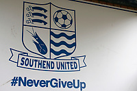 A view of the club motif during the Sky Bet League 1 match between Southend United and Fleetwood Town at Roots Hall, Southend, England on 13 January 2018. Photo by Carlton Myrie.