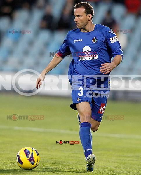Getafe's Mane Jimenez during La Liga match.November 18,2012. (ALTERPHOTOS/Acero) NortePhoto