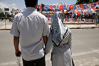 Turkish couple holding hands in Adiyaman, southeastern Turkey