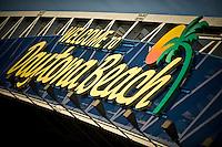 Pedestrian footbridge over U. S. 92 / International Speedway Blvd. in front of the Daytona International Speedway..