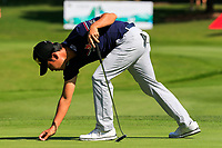 Kevin Na (USA) on the 15th green during the 3rd round at the WGC HSBC Champions 2018, Sheshan Golf CLub, Shanghai, China. 27/10/2018.<br /> Picture Fran Caffrey / Golffile.ie<br /> <br /> All photo usage must carry mandatory copyright credit (&copy; Golffile | Fran Caffrey)