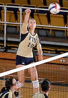 Florida International University women's volleyball player Marija Prsa (10) plays against the University of South Alabama.  FIU won the match 3-0 on October 30, 2011 at Miami, Florida. .