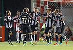 Callum Morris celebrates his goal for Dunfermline