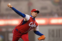 18 March 2009: #59 Ismel Jimenez Santiago of Cuba pitches against Japan during the 2009 World Baseball Classic Pool 1 game 5 at Petco Park in San Diego, California, USA. Japan wins 5-0 over Cuba.