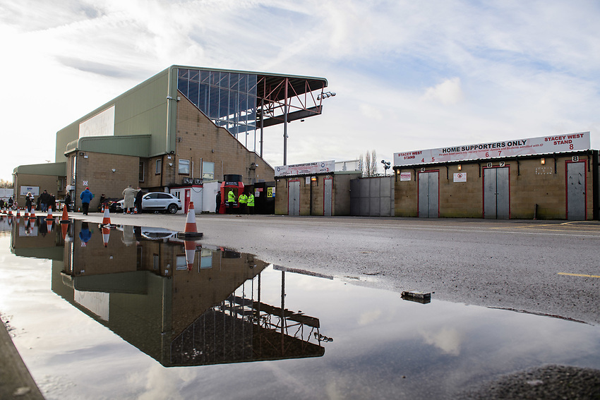 A general view of Sincil Bank, home of Lincoln City FC<br /> <br /> Photographer Chris Vaughan/CameraSport<br /> <br /> The EFL Sky Bet League Two - Lincoln City v Newport County - Saturday 22nd December 201 - Sincil Bank - Lincoln<br /> <br /> World Copyright © 2018 CameraSport. All rights reserved. 43 Linden Ave. Countesthorpe. Leicester. England. LE8 5PG - Tel: +44 (0) 116 277 4147 - admin@camerasport.com - www.camerasport.com
