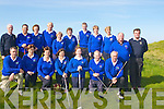 TEAM: Ardfert Golf team in good form to tak on Parknasilla Golf team in The Nines of Kerry Sheild at Tralee Golf Club, on Saturday. Front l-r: Steven Nellings, Mary Savage, Kathleen O'Loughlin, Kathleen Finnegan, Sarah Fitzgerald, Nora Quinlan and Maurice Egan. Back l-r: Jim McLoughlin (KFG), Ger Hussey, Philemna Stack, Joe Stack, Maureen Tiplady, Joan cantillon (Lady President), Padraig Lawlor, Mary Quillinan, Margaret Murphy, Chris Molly (Capt) and Ger O'Connor (KFG).