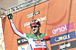 Italian National Champion Elia Viviani (ITA) Deceuninck-Quick Step at sign on in Fortezza Medicea before the start of the 110th edition of Milan-San Remo 2019 running 291km from Milan to San Remo, Italy. 23rd March 2019.<br /> Picture: LaPresse/Fabio Ferrari | Cyclefile<br /> <br /> <br /> All photos usage must carry mandatory copyright credit (© Cyclefile | LaPresse/Fabio Ferrari)