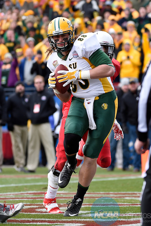 10 JAN 2015:   North Dakota State University takes on Illinois State University during the Division I Men's Football Championship held at Toyota Stadium in Frisco, TX.  Jamie Schwaberow/NCAA Photos