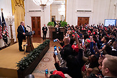 United States President Donald J. Trump addresses the 2018 Young Black Leadership Summit at The White House in Washington, DC on Friday, October 26, 2018. <br /> Credit: Chris Kleponis / Pool via CNP