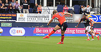 Cameron McGeehan of Luton Town scores his second goal of the game from the penalty spot during the Sky Bet League 2 match between Luton Town and Doncaster Rovers at Kenilworth Road, Luton, England on 24 September 2016. Photo by Liam Smith.