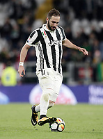 Calcio, Serie A: Juventus - Atalanta, Torino, Allianz Stadium, 14 marzo 2018. <br /> Juventus' Gonzalo Higuain in action during the Italian Serie A football match between Juventus and Atalanta at Torino's Allianz stadium, March 14, 2018.<br /> UPDATE IMAGES PRESS/Isabella Bonotto
