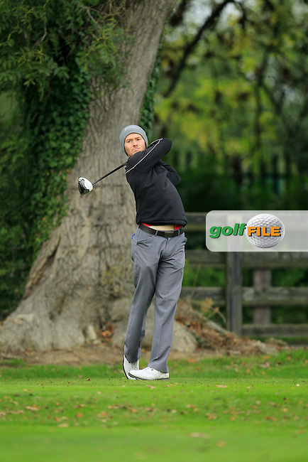 Noel Murray (Massereene G.C) on the 1st during Round 3 of The Cassidy Golf 103rd Irish PGA Championship in Roganstown Golf Club on Saturday 12th October 2013.<br /> Picture:  Thos Caffrey / www.golffile.ie