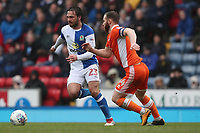 Blackburn Rovers' Bradley Dack and Blackpool's Jimmy Ryan<br /> <br /> Photographer Rachel Holborn/CameraSport<br /> <br /> The EFL Sky Bet League One - Blackburn Rovers v Blackpool - Saturday 10th March 2018 - Ewood Park - Blackburn<br /> <br /> World Copyright &copy; 2018 CameraSport. All rights reserved. 43 Linden Ave. Countesthorpe. Leicester. England. LE8 5PG - Tel: +44 (0) 116 277 4147 - admin@camerasport.com - www.camerasport.com