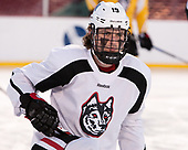 Lincoln Griffin (NU - 19) The Northeastern University Huskies practiced at Fenway on Friday, January 13, 2017, in Boston, Massachusetts.