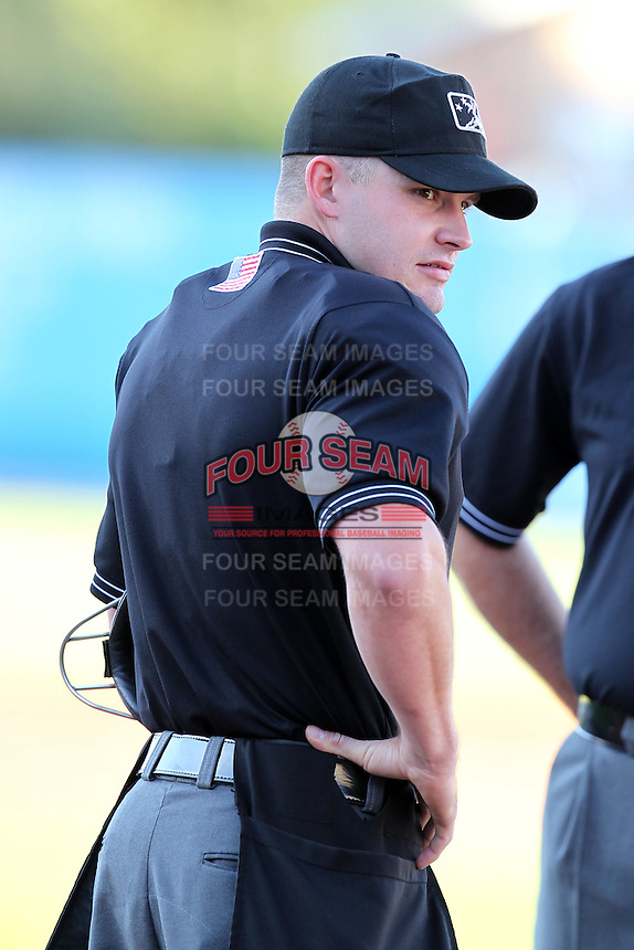 Umpire Rocky Craig during a game at Fifth Third Field in Comstock Park, Michigan;  August 16, 2010.  Photo By Mike Janes/Four Seam Images
