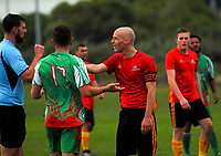 Action from the Central League football match between Stop Out and Wairarapa United at Hutt Park in Wellington, New Zealand on Saturday, 27 May 2017. Photo: Dave Lintott / lintottphoto.co.nz