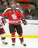 Brandon Bollig (St. Lawrence - 81) - The St. Lawrence University Saints defeated the Harvard University Crimson 3-2 on Friday, November 20, 2009, at the Bright Hockey Center in Cambridge, Massachusetts.