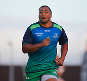 9th September 2017, Galway Sportsground, Galway, Ireland; Guinness Pro14 Rugby, Connacht versus Southern Kings; Bundee Aki of Connacht during the warm up