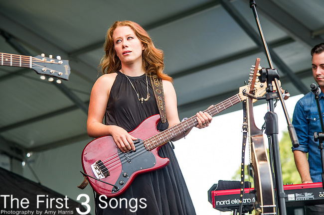 Kanene Donehey Pipkin of The Lone Bellow performs during the 2015 Pilgrimage Music & Cultural Festival in Franklin, Tennessee.
