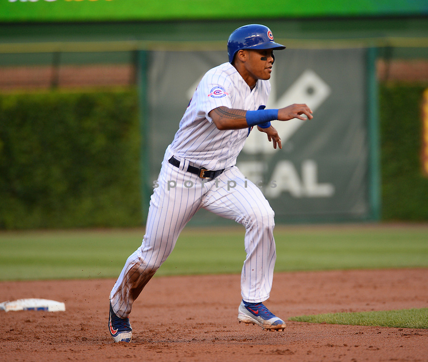 Chicago Cubs Addison Russell (27) during a game against the New York Mets on July 19, 2016 at Wrigley Field in Chicago, IL. The Mets beat the Cubs 2-1.