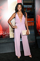 HOLLYWOOD, CA - APRIL 18: Claudia Jordan at the premiere of 'Unforgettable' at the TCL Chinese Theatre on April 18, 2017 in Hollywood, California. <br /> CAP/MPI/DE<br /> &copy;DE/MPI/Capital Pictures
