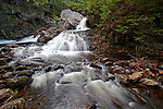 The Middle Branch of the Swift River flows over the waterfall at Bears Den in New Salem, MA