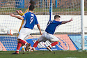 MARC MCKENZIE (7) CELEBRATES AFTER HE  SCORES COWDENBEATH'S FOURTH