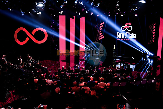 Route presentation for the 103rd edition of the Giro d'Italia 2020 held in the RAI Studios, Milan, Italy. <br /> 24th October 2019.<br /> Picture: LaPresse/Marco Alpozzi | Cyclefile<br /> <br /> All photos usage must carry mandatory copyright credit (© Cyclefile | LaPresse/Marco Alpozzi)