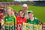Kerry Fans Kerry, Eadoin, Martin and Gerard O'Leary Tralee at the Munster Semi-Final Replay at Park Ui Caoimh on Sunday