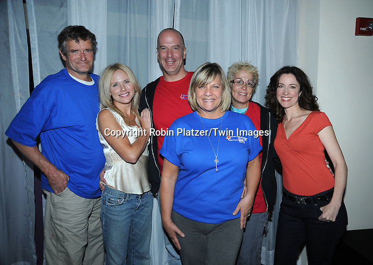 Bill Heyman and sister Terry Keizer with GL Stars for Soap Opera Weekly attending the 7th Annual Daytime Stars and Strikes Bowling Event on October 10, 2010 at Leisure Time Bowling Facility in New York City. The event benefited The American Cancer Society.