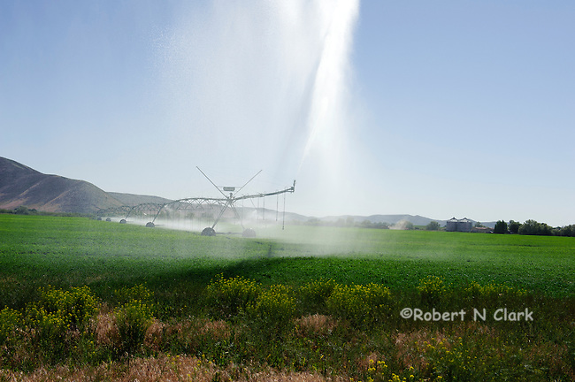 Irrigation pivot in a field near Silver Creek, Idaho