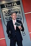 TV presenter Matt Smith adresses the FA Club at Wembley stadium