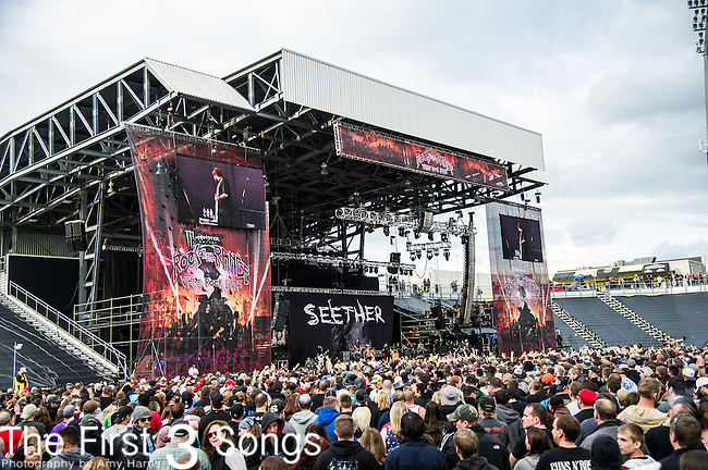 Seether performs during the 2014 Rock On The Range festival at Columbus Crew Stadium in Columbus, Ohio.