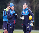 David Weir talking tactics with new goalkeeper Maciej Gostomski