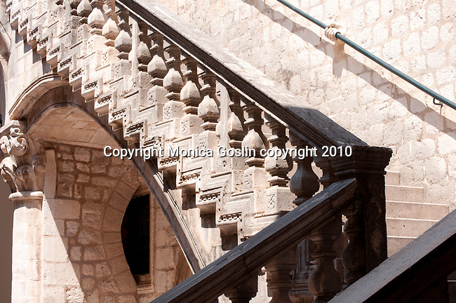 Staircase at the Rector's Palace in Dubrovnik, Croatia.