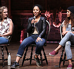 Hope Endrenyi, Erin Clemons and Sasha Hollinger  during the an eduHAM Q & A panel with the cast of Broadway's 'Hamilton' at The Richard Rodgers Theatre on May 23, 2018 in New York City.