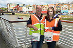 Anto McDonnell and Jess Eustace collecting for Drogheda River Rescue's kip in the skip www.newsfile.ie